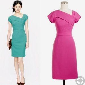 J Crew Fuchsia Sheath Dress Sz 2